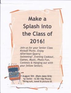 CLASS OF 2016 Picnic Invite