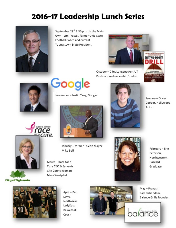 2016 Leadership Lunch Series Speakers flyer